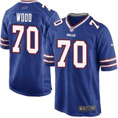 Nike Game Eric Wood Royal Blue Men s Jersey - Buffalo Bills  70 NFL Home 0135d9ba6