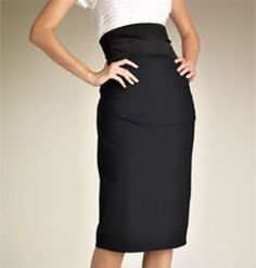 Pattern of high waist pencil skirt  knee ,ankle, or 3/4 length choose your size from 2 to 18 or your mesurments. €22.00, via Etsy.