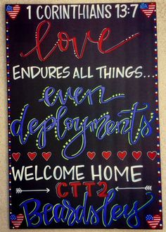 Military homecoming sign / Deployment Sign / Welcome Home / Armed Forces / Navy … – JoAnna Evans-Webb - special Welcome Home Signs For Military, Welcome Home Soldier, Welcome Home Daddy, Welcome Home Parties, Military Homecoming Signs, Military Signs, Military Deployment, Military Love, Deployment Countdown