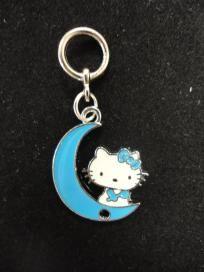 Hello Kitty on the moon Charm #617