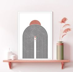 Rainbow Wall, Rainbow Print, Printing Services, Online Printing, Curved Lines, International Paper Sizes, Neutral Colors, Geometric Shapes, Printable Art