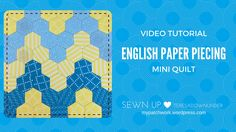 This is the perfect project to learnEnglish paper piecing. It's small enough to get results straight away. I like the zig zag pattern too. You don't see it very often but in a large sc…