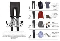 Wardrobe ICONS Eva Herzigova in conversation with Laura Fantacci 4 Ways  with leather leggings Leather Pants 7bb1d29ad50ad