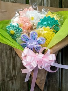 Cookie bouquet Sugar cookies Flower cookies