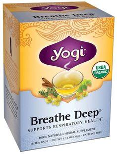 Buy Yogi Tea - Breathe Deep Organic Respiratory Support Tea Caffeine Free - 16 Tea Bags at LuckyVitamin.com