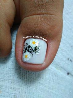 56 Modelos de Unhas de Pés e Mãos combinadas! Perfeito Pedicure Designs, Manicure E Pedicure, Nail Spa, Mani Pedi, Fingernail Designs, Toe Nail Designs, Toe Nail Art, Toe Nails, Toe Polish