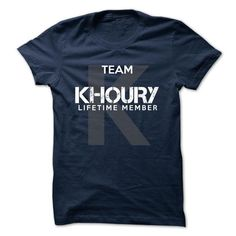 KHOURY - TEAM KHOURY LIFE TIME MEMBER LEGEND - #wifey shirt #tee aufbewahrung. THE BEST => https://www.sunfrog.com/Valentines/KHOURY--TEAM-KHOURY-LIFE-TIME-MEMBER-LEGEND-49904435-Guys.html?68278