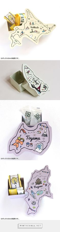 by Packaging Diva PD. These are tourist gifts from japanese cities.curated by Packaging Diva PD. These are tourist gifts from japanese cities. Japanese Packaging, Pretty Packaging, Map Design, Print Design, Logo Design, Brand Packaging, Packaging Design, Start Ups, Japanese Design