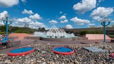 Brunnen beim Imagination - Pavilion im EPCOT Center