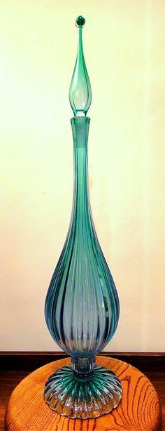 Barbini genie bottle. Murano, Italy, circa 1950's