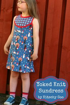 Yoked knit sundress tutorial by Kitschy Coo for Melly Sews (30) Days of Sundresses