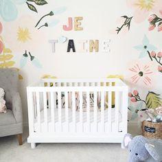 Pastel Nursery, Flower Nursery, Baby Girl Nursery Themes, Nursery Ideas, Baby Rooms, Kids Rooms, Room Ideas, Twin Girl Bedrooms, Nursery Inspiration