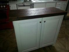 Kitchen Island with Reclaimed Wood Top http://www.realantiquewood.com