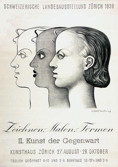 Stoecklin Niklaus Zeichnen, malen, formen Schweizerische Landesausstellung Zürich Kunsthaus Zürich Jahr: 1939