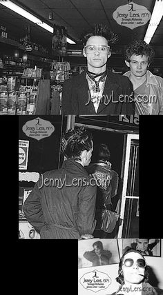 """Screamers Debut, May 28, 1977, #1, Jenny Lens MFA, jennylens.com.  Buy pix: www.store.jennylens.com/punk. Screamers hitting liquor store before their world premiere debut. Steve Samioff's loft, publisher of Slash Magazine (prior to record co). Memorable experience witnessing one of BEST bands ever. Best unrecorded band of all time. Seeing them was always a feast for the senses. Claude """"Kick Boy"""" Bessy, my fave LA punk. One of my all-time fave people. DO NOT EDIT MY copyrighted IMAGES or…"""