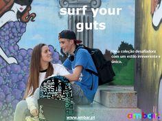 Surf your Guts: Irreverência com muito estilo! Visita-nos em www.ambar.pt #ambarideiasnopapel #regressoasaulas #mochilas #a: