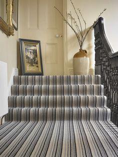 Buy Castella John Lewis & Partners Genoa Pure Wool Loop Carpet from our Carpets range at John Lewis & Partners. Striped Carpet Stairs, Striped Carpets, Stair Carpet, Carpet Fitting, Cost Of Carpet, Moving Furniture, Textured Carpet, Living Environment, Genoa