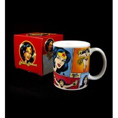 Amazon.com: Wonder Woman comic strip mug: Home & Kitchen