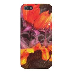 RED SUNFLOWERS CASE FOR iPhone 5