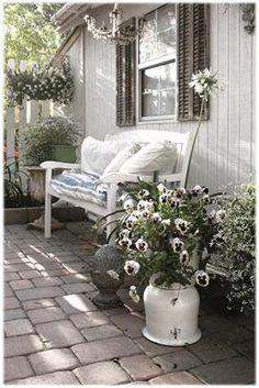 Outdoor Rooms, Outdoor Gardens, Outdoor Living, Outdoor Furniture Sets, Outdoor Decor, Outdoor Seating, Outdoor Ideas, Garden Cottage, Home And Garden