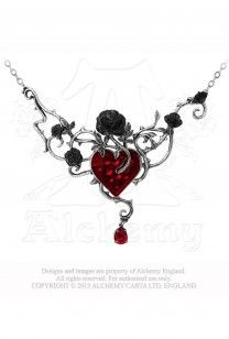 Collier Bed of Blood Roses