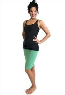 Hard Tail Pencil Skirt (Green). This spring pencil skirt is made of 90% cotton/ 10% lycra.