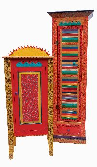 Mexican Painted Furniture Southwest Katchina Cabinet