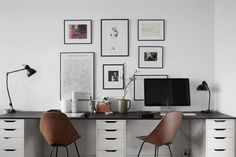 Workspace for two - via Coco Lapine Design #homeofficeideasfortwo