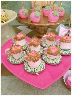 Princess Tea Party #TeaCups #PrincessParty #CakePops