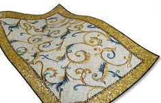 Tile Mosaic Rug from Sicis - new glass tile rugs Bisanzio