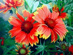 oleos de flores - Buscar con Google