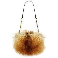Christian Louboutin Fox Fur Bag ~