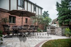 Paver patio with grill
