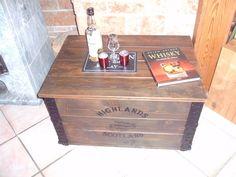 Perfekt Shabby Alte Frachtkiste Couchtisch Holzkiste Truhe Tisch Vintage Whiskey  Wohnen