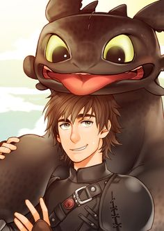 Happy Toothless & Hiccup