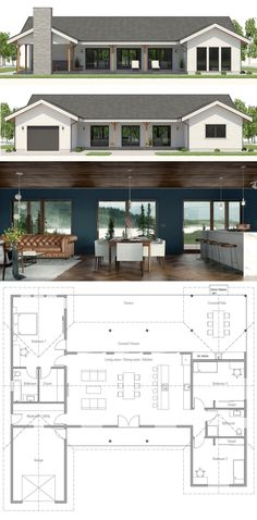 Small Home Plan Small Home Plans Small House Floor Plans smallhouse smallhomeplans floorplans architecture homepla Bungalow Floor Plans, Small House Floor Plans, House Plans One Story, Dream House Plans, Modern Bungalow House Plans, House Floor Plan Design, One Story Houses, Retirement House Plans, 1 Story House