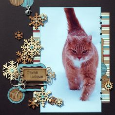 scrapbook cat layout