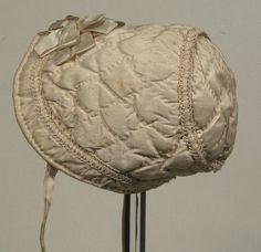 1810-1820  Childs bonnet   cotton, silk
