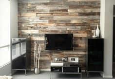 STIKWOOD, peel and stick wood panels (for walls) from West Elm