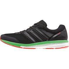 adidas Men's adizero Boston Boost 5 Running Shoe - core black/core black/flash green s15 B44011
