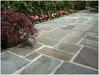 Reclaimed Welsh Pennant Paving Stone and Slabs Paving Slabs, Paving Stones, Garden Paving, Garden Paths, Patio Ideas, Garden Ideas, Victorian Terrace, Flagstone, Gras