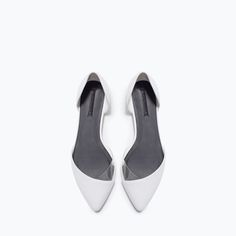 ZARA - WOMAN - VINYL DORSAY SHOES