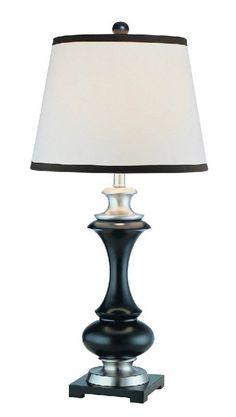 Doorbuster! Only 1 left: Lite Source Walta Table Lamp Black/Polished Steel LS-20866PS/DWAL | LampsUSA