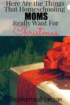 Are you wondering about the things that homeschooling moms really want for Christmas? After homeschooling for 11 years, here are the things I know you want!