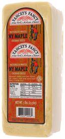 """NY Maple Cheddar (only available in 5# loaves)- A wonderfully sweet combination of maple that can satisy a big hunger. The mouth watering aroma of this great cheddar cheese will take you back to the old time """"Sugar Shack"""""""