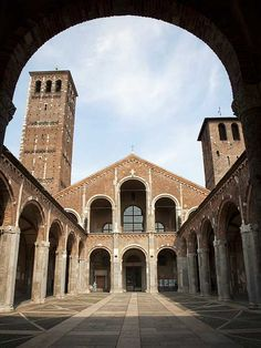Milan - Basilica of Sant'Ambrogio.  Louis II King of Italy (825 - 875) is buried here.  He is Mike's 38th GG.