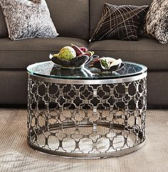 Harlan Coffee Table House Pinterest Birch Lane Round Glass - Pewter glass coffee table