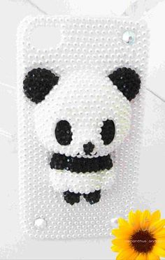 Custom 3D Panda iPhone Case  Cute Pearl Panda iPhone 5 Case iphone