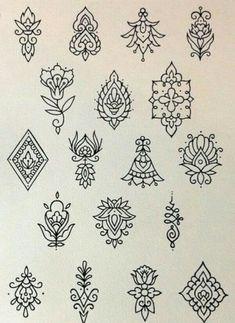 Tattoos # + From # 120 Line Tattoos, Flower Tattoos, Body Art Tattoos, Tattoo Drawings, Small Tattoos, Henna Tattoo Designs, Mehndi Designs, Mandala Design, Dotwork Tattoo Mandala