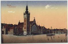 Stara #pocztowka: Dworzec Główny / Old #postcard: Railway Station in #Gdansk